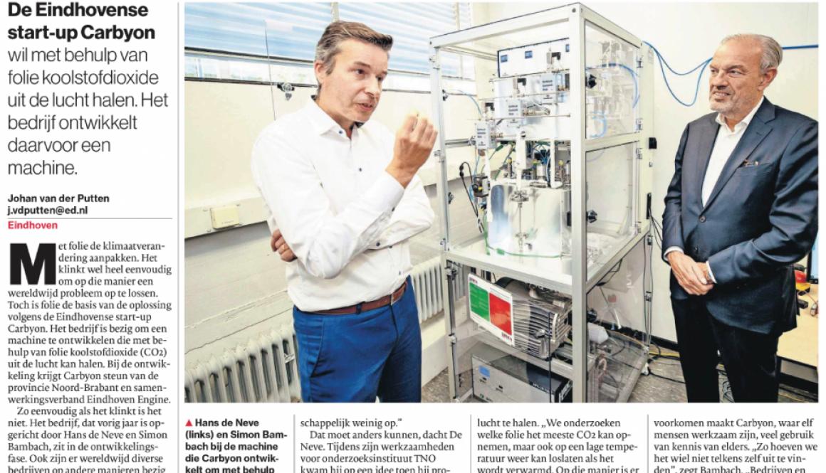 Eindhovens Dagblad Folie tegen klimaatverandering 20201017